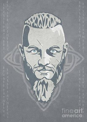 Ragnar Lothbrok Vikings Poster by Sinisa Kale