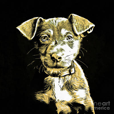 Puppy Dog Graphic Novel Drawing Poster by Edward Fielding