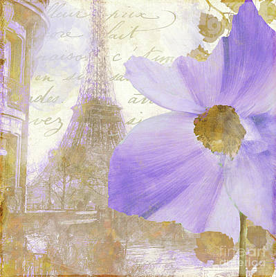 Purple Paris I Poster by Mindy Sommers