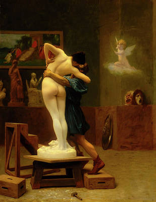 Pygmalion And Galatea Poster by Jean - Leon Gerome