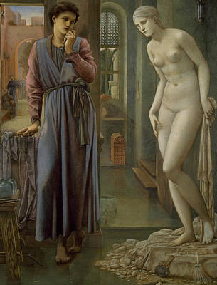 Pygmalion And The Image The Hand Refrains Poster by Edward Burne-Jones