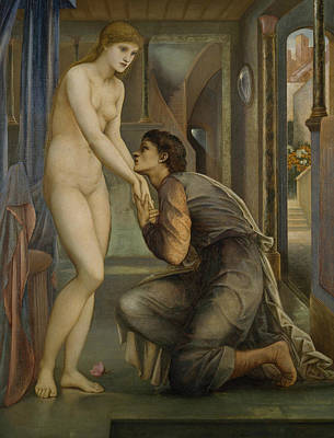 Pygmalion And The Image The Soul Attains  Poster by Edward Burne-Jones