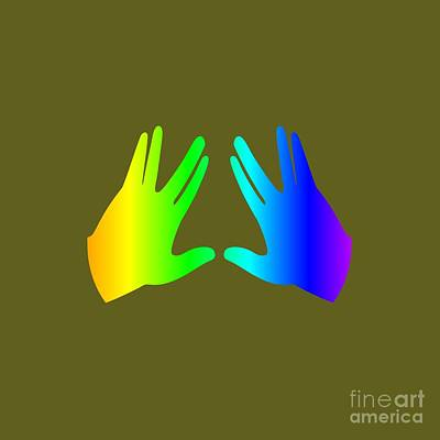 Rainbow Judaism Symbol Poster by Frederick Holiday