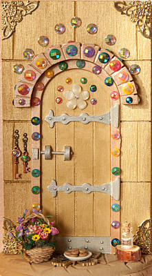 Rainbow Sparkle Fairy Door Poster by Kerry Ray