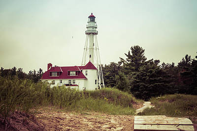 Poster featuring the photograph Rawley Point Lighthouse by Joel Witmeyer