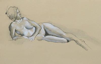 Reclining Nude 2 Poster by Robert Bissett