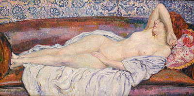 Reclining Nude Poster by Theo van Rysselberghe