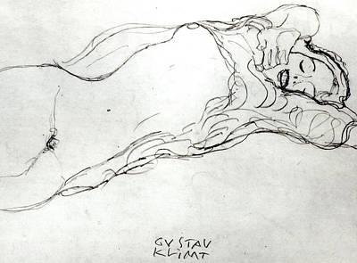 Reclining Woman Poster by Gustav Klimt