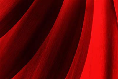 Red Chrysanthemum Dawn Rising Poster