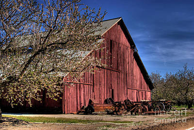 Poster featuring the photograph Red Barn by Jim and Emily Bush