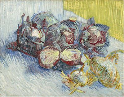 Red Cabbages And Onions October 1887 - November 1887 Poster by Vincent Van Gogh