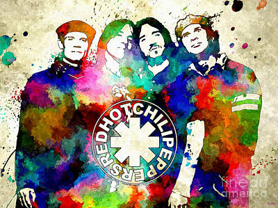 Red Hot Chili Peppers Poster by Daniel Janda