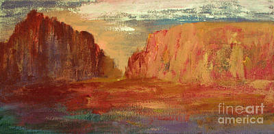 Red Sedona Poster by Julie Lueders