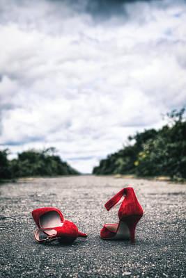 Red Stilettos Poster by Joana Kruse