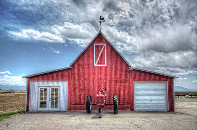Red Tractor Barn Poster