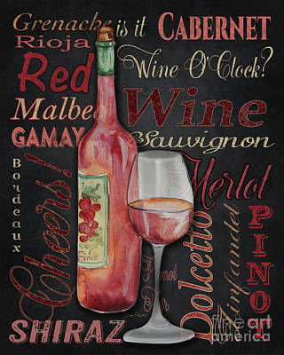 Red Wine-jp3974 Poster by Jean Plout