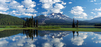 Reflection Of A Mountain In Water Poster by Panoramic Images