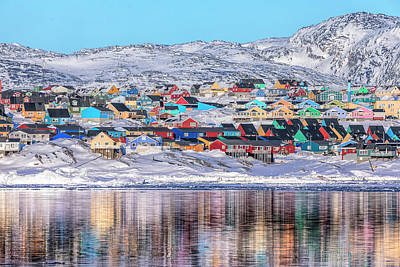 reflections of Ilulissat - Greenland Poster by Joana Kruse