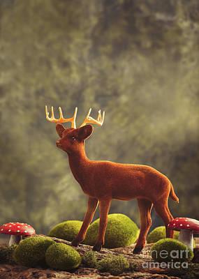Reindeer Animal Figure Poster