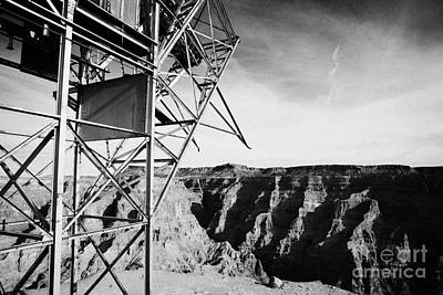 remains of old tramway headhouse for the mine at guano point Grand Canyon west arizona usa Poster by Joe Fox