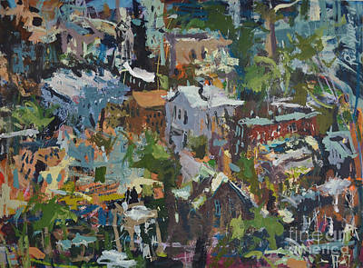 Richmond Virginia Cityscape Painting Poster