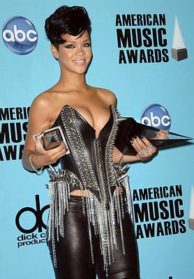 Rihanna In The Press Room For American Poster by Everett
