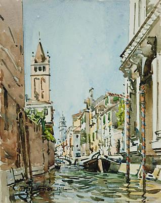 Rio Di San Barnaba, Venice Poster by Edward Darley Boit