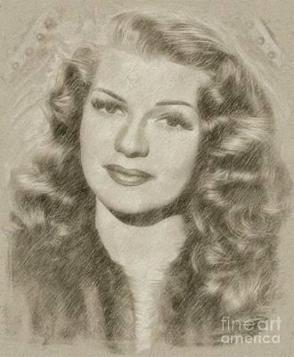 Rita Hayworth Vintage Hollywood Actress Poster by Frank Falcon