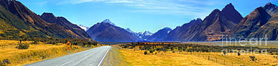 Road Into Mt Cook Poster by Bill  Robinson