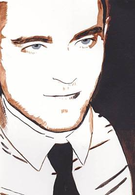 Poster featuring the painting Robert Pattinson 11 by Audrey Pollitt