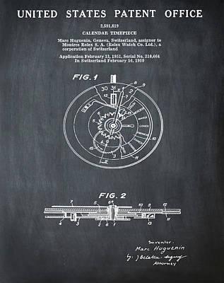 Rolex Watch Patent 1999 In Chalk Poster