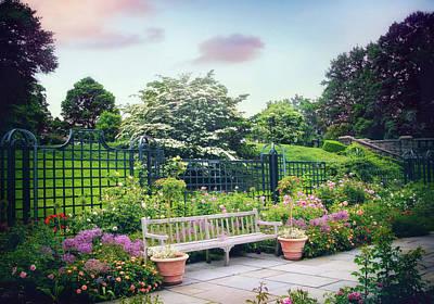 Rose Garden Respite Poster by Jessica Jenney
