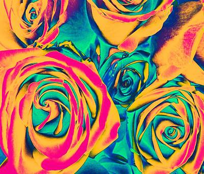 Roses - Pop Art Poster by Marianna Mills