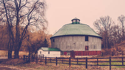 Round Barn Poster by Dan Traun