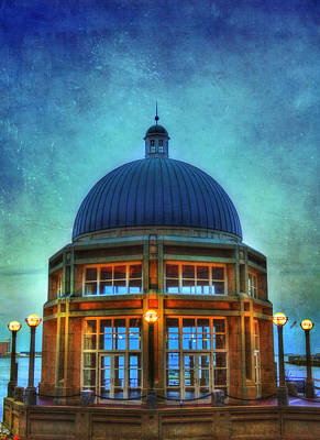 Rowes Wharf Gazebo - Boston Poster by Joann Vitali