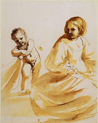 Royal Guercino Woman Poster