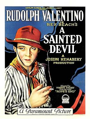 Rudolph Valentino In A Sainted Devil 1923 Poster by Mountain Dreams
