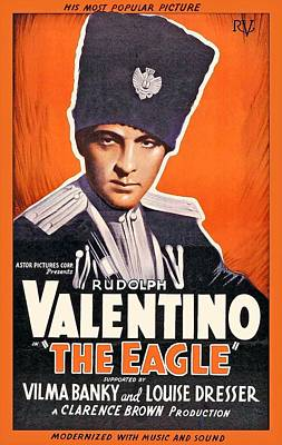 Rudolph Valentino In The Eagle 1925 Poster by Mountain Dreams
