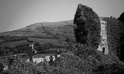 Ruins In The Burren County Clare Ireland Poster by Teresa Mucha