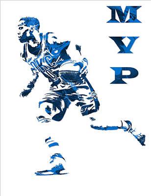 Russell Westbrook Oklahoma City Thunder Pixel Art 6 Poster
