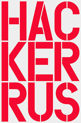 Russian Hacker Poster by Three Dots