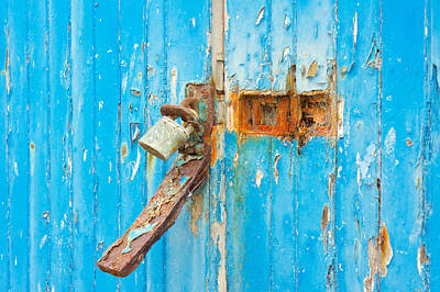 Rusty Lock Poster by Tom Gowanlock