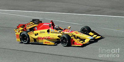 Ryan Hunter Reay Indycar Poster by Steve Gass