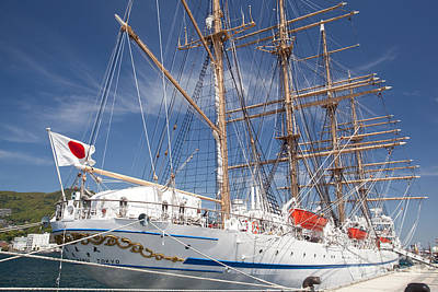 Poster featuring the photograph Sail Training Ship Nippon Maru by Aiolos Greek Collections