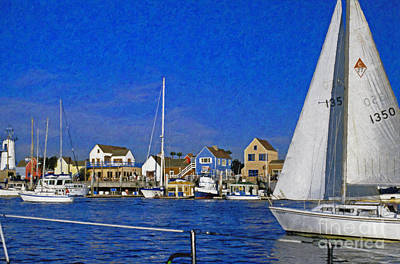 Poster featuring the photograph Sailing Marina Del Rey Fisherman's Village by David Zanzinger