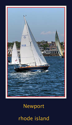 Sailing Newport Poster by Tom Prendergast