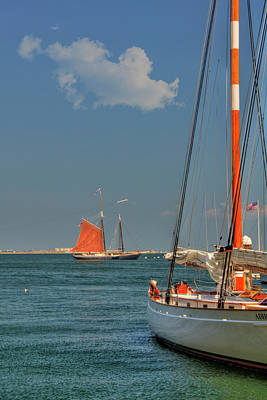 Sailing On Boston Harbor Poster