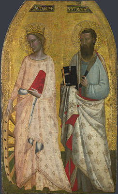 Saint Catherine And Saint Bartholomew Poster by Allegretto Nuzi