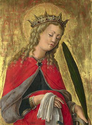 Saint Catherine Poster by Giorgio Schiavone