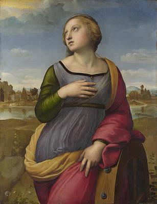 Saint Catherine Of Alexandria Poster by Raphael